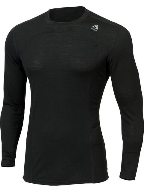 Aclima LightWool Crew Neck Shirt Men JetBlack